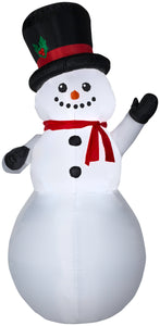 9' Airblown Snowman Christmas Inflatable