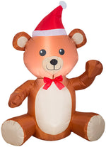 Load image into Gallery viewer, Gemmy 3.5' Airblown Inflatable Christmas Teddy Bear