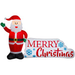 Load image into Gallery viewer, Airblown Inflatable Santa Merry Christmas Sign Scene