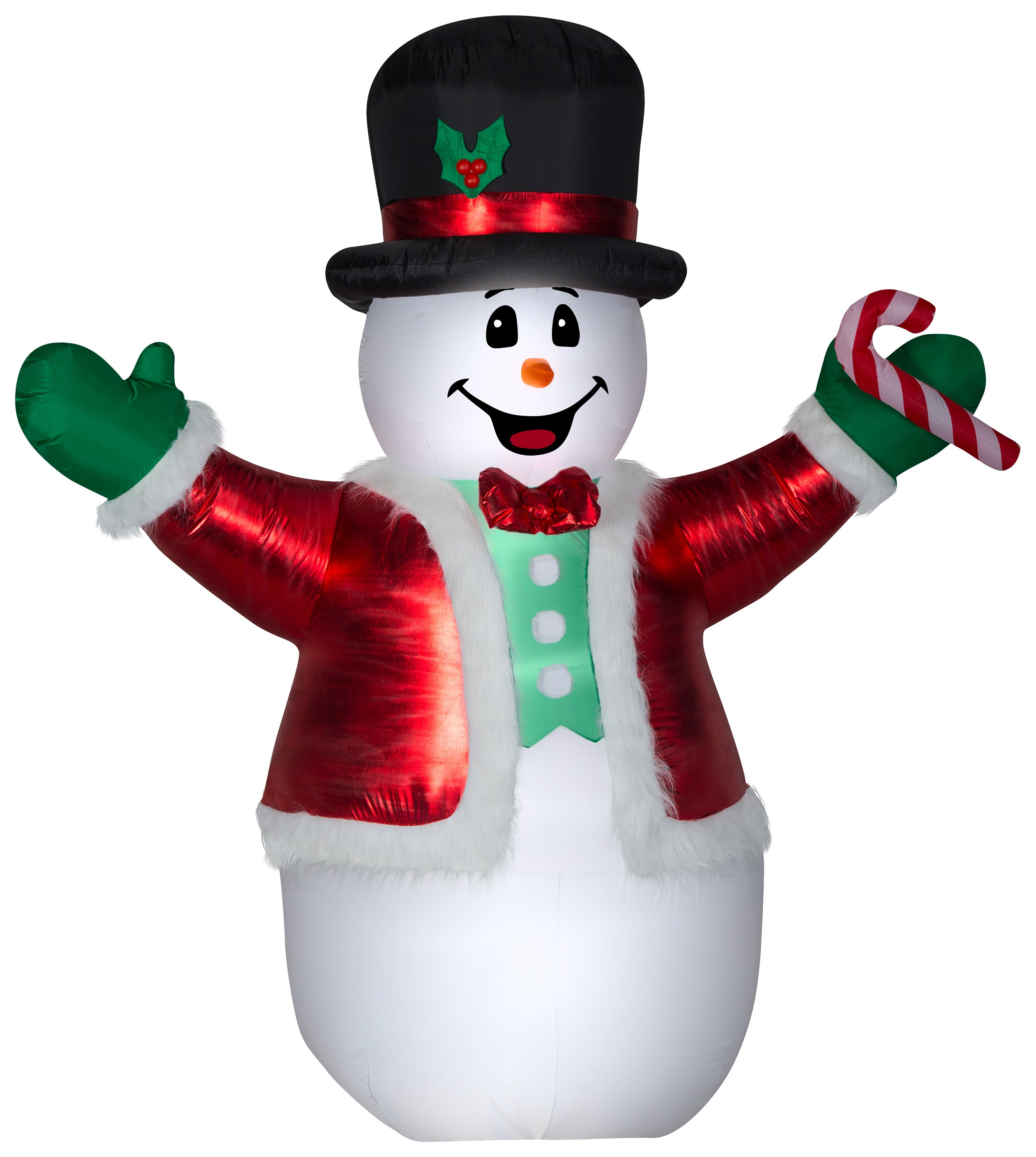 Gemmy Christmas Airblown Inflatable Mixed Media Luxe Snowman Giant, 8.5 ft Tall, Multicolored