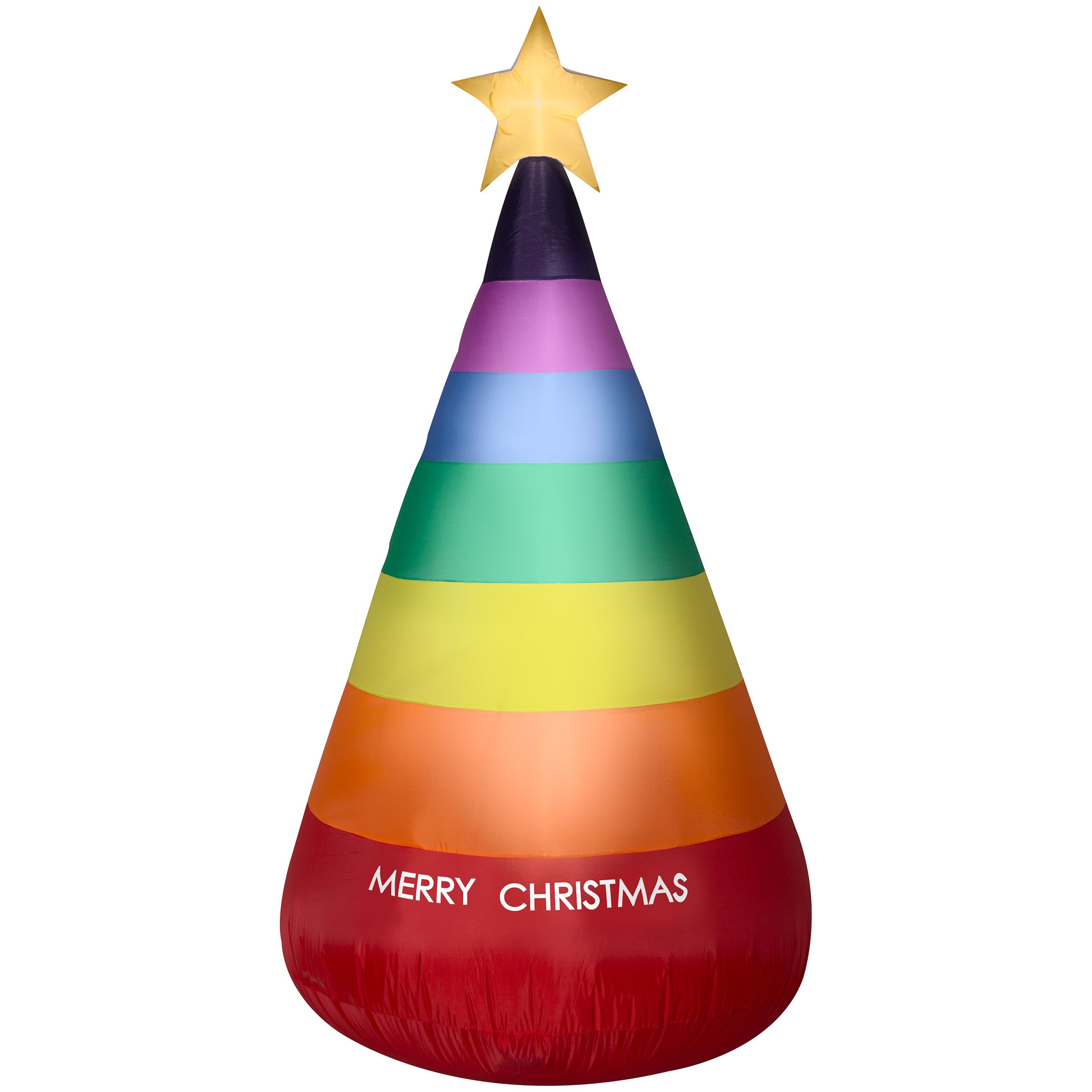 Gemmy 7' Rainbow Lighted Inflatable Christmas Tree