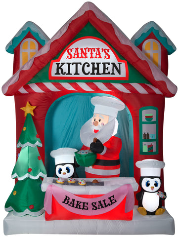 10' Airblown Santa's Vintage Kitchen Scene Giant Christmas Inflatable
