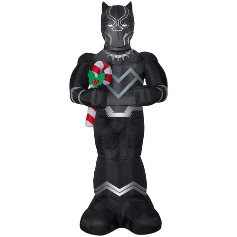 5' Airblown-Black Panther w/Candy Cane-Marvel Christmas Inflatable