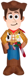 3.5' Airblown Stylized Inflatable Woody with Candy Cane
