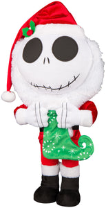 Gemmy Holiday Greeter Jack Skellington w/Stocking Disney