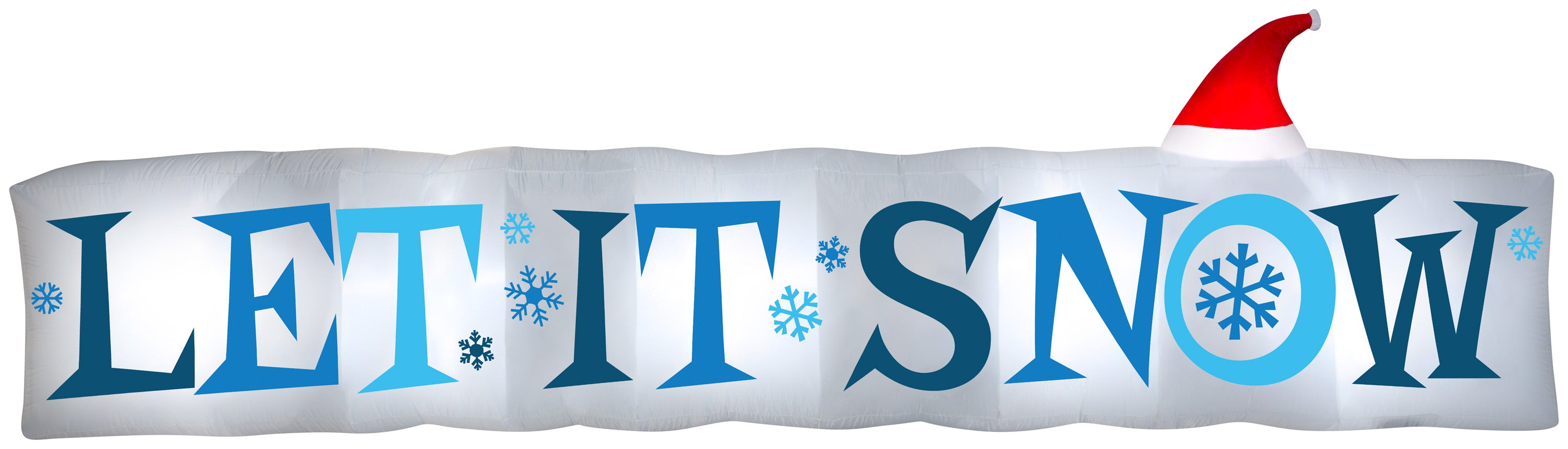 Gemmy 15' Airblown Inflatable Let It Snow Sign LG