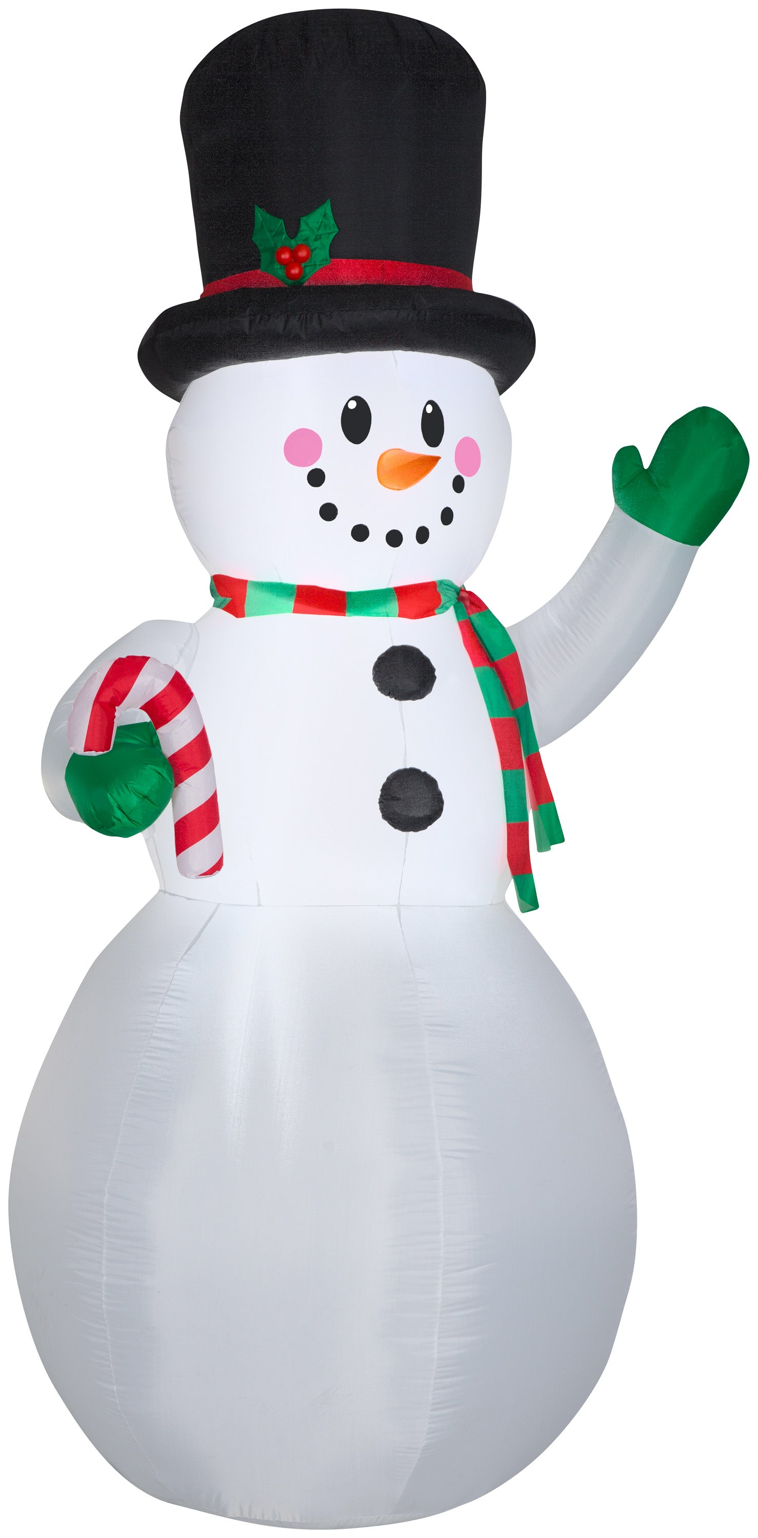 Gemmy 9' AirblownInflatable Snowman w/Candy Cane