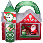 Load image into Gallery viewer, 7.5' Animated Airblown-Santa's Workshop Scene