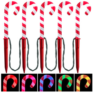 Gemmy Christmas Enlightened Pathways-ColorMotion-Deluxe-S/5-Candy Cane (Multi)