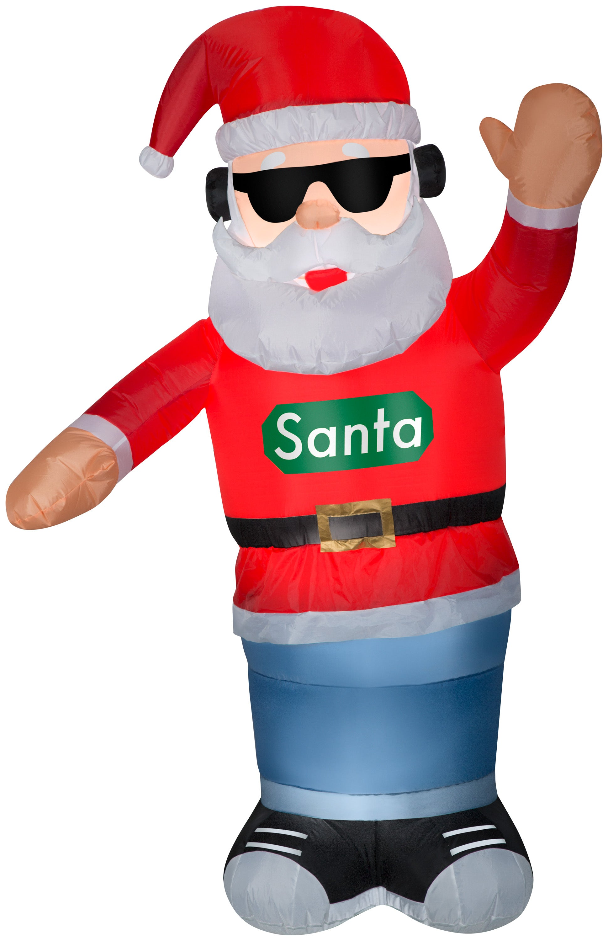 Gemmy 6' Animated Airblown Inflatable Swaying Santa w/Headphones