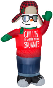 Gemmy 6' Animated Airblown Inflatable Swaying Chillin Snowman