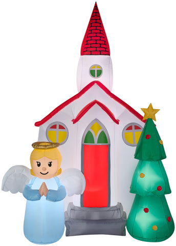 7.5' Airblown Church Scene Christmas Inflatable
