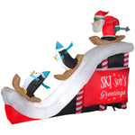 Load image into Gallery viewer, 9' Airblown Inflatable Santa Ski Scene