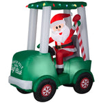 Load image into Gallery viewer, Airblown-Santa with Golf Cart Scene