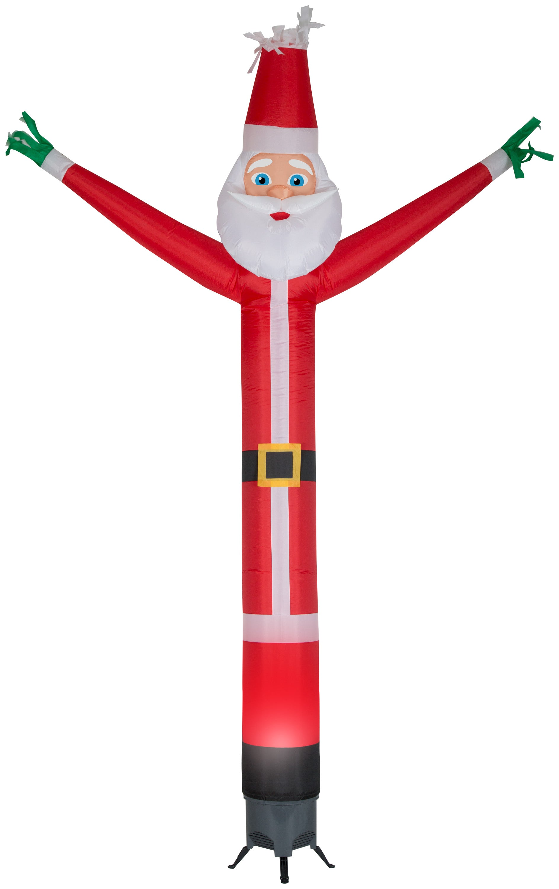 Gemmy 12' Animated Airblown Jolly Jiggler Santa w/Internal Spotlight