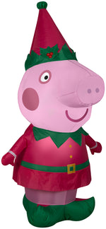 Load image into Gallery viewer, Gemmy 4' Airblown Christmas Peppa Pig