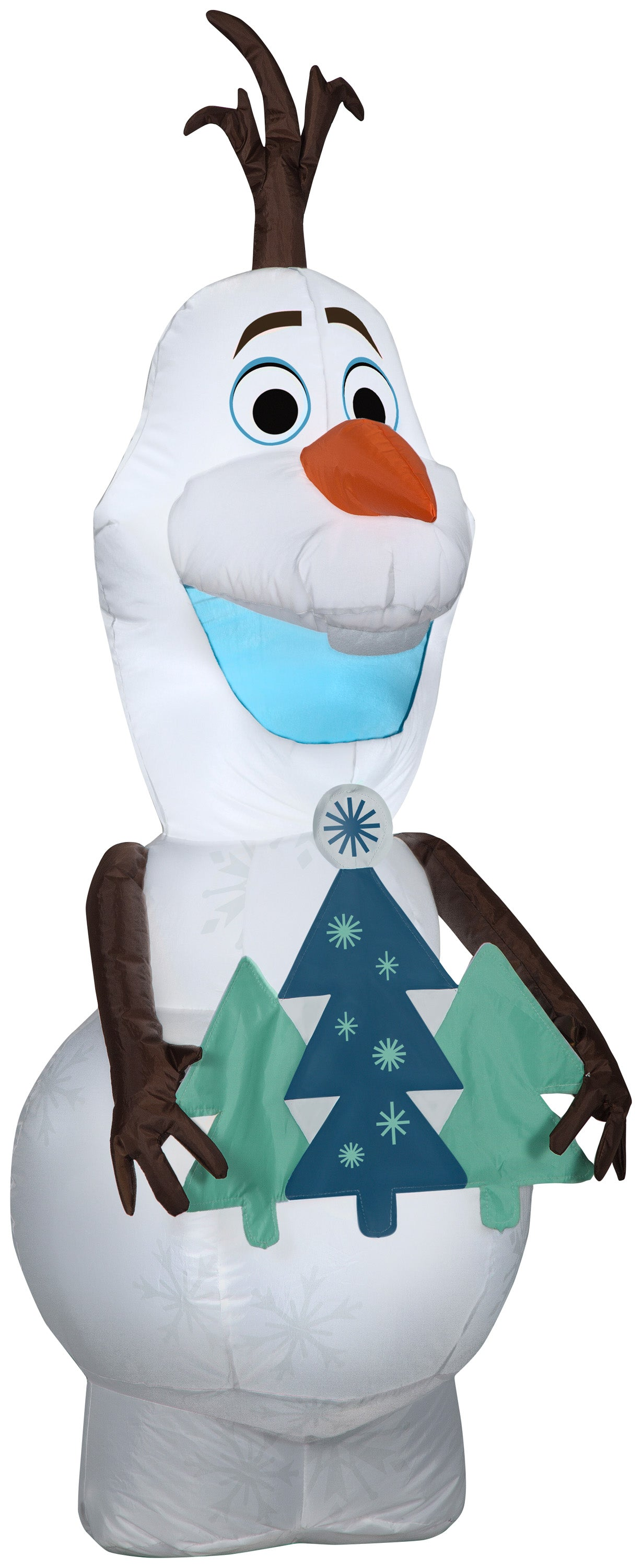 Gemmy 4ft Airblown Inflatable Olaf Holding Christmas Tree Disney
