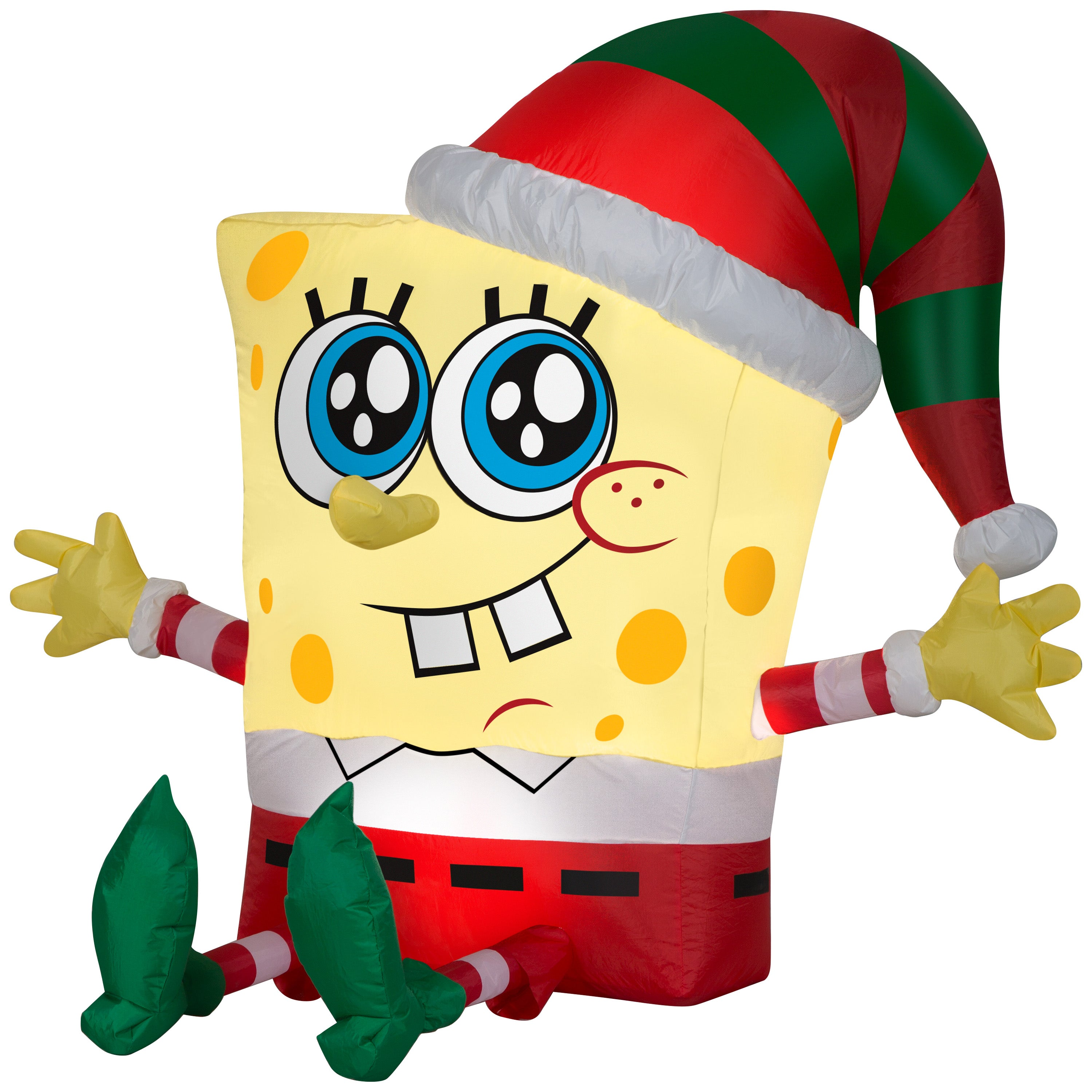 Gemmy 3.5ft Airblown Inflatable Spongebob in Holiday Outfit Nickelodeon