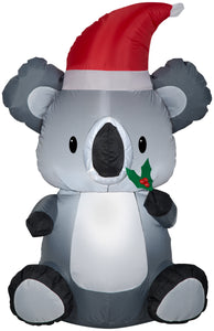 Gemmy Christmas Airblown Inflatable Koala, 3.5 ft Tall, grey