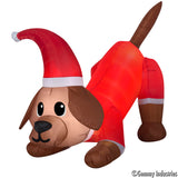 4.5' Animated Airblown Puppy with Wagging Tail Christmas Inflatable