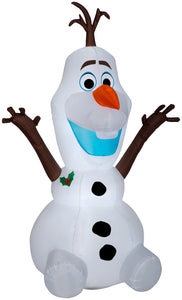 6' Airblown Olaf Sitting Disney Christmas Inflatable