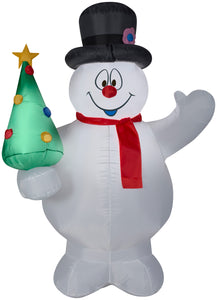 5' Airblown Frosty the Snowman w/Christmas Tree Christmas Inflatable