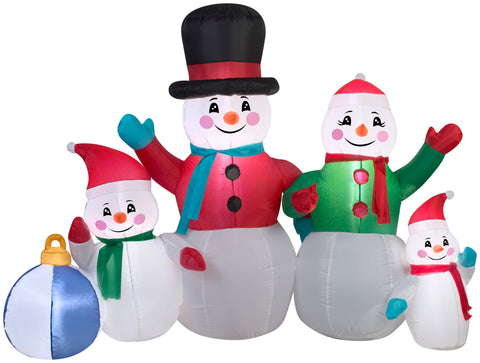 5' Snowman Family Scene Christmas Inflatable
