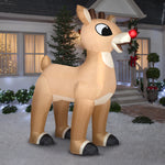 Load image into Gallery viewer, 10' Airblown Standing Rudolph Christmas Inflatable
