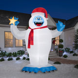 12' Airblown Bumble w/ Santa Hat Christmas Inflatable