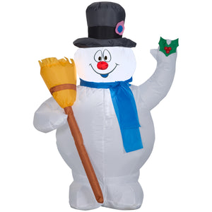 Gemmy 3.5' Airblown Inflatable Frosty w/Broom