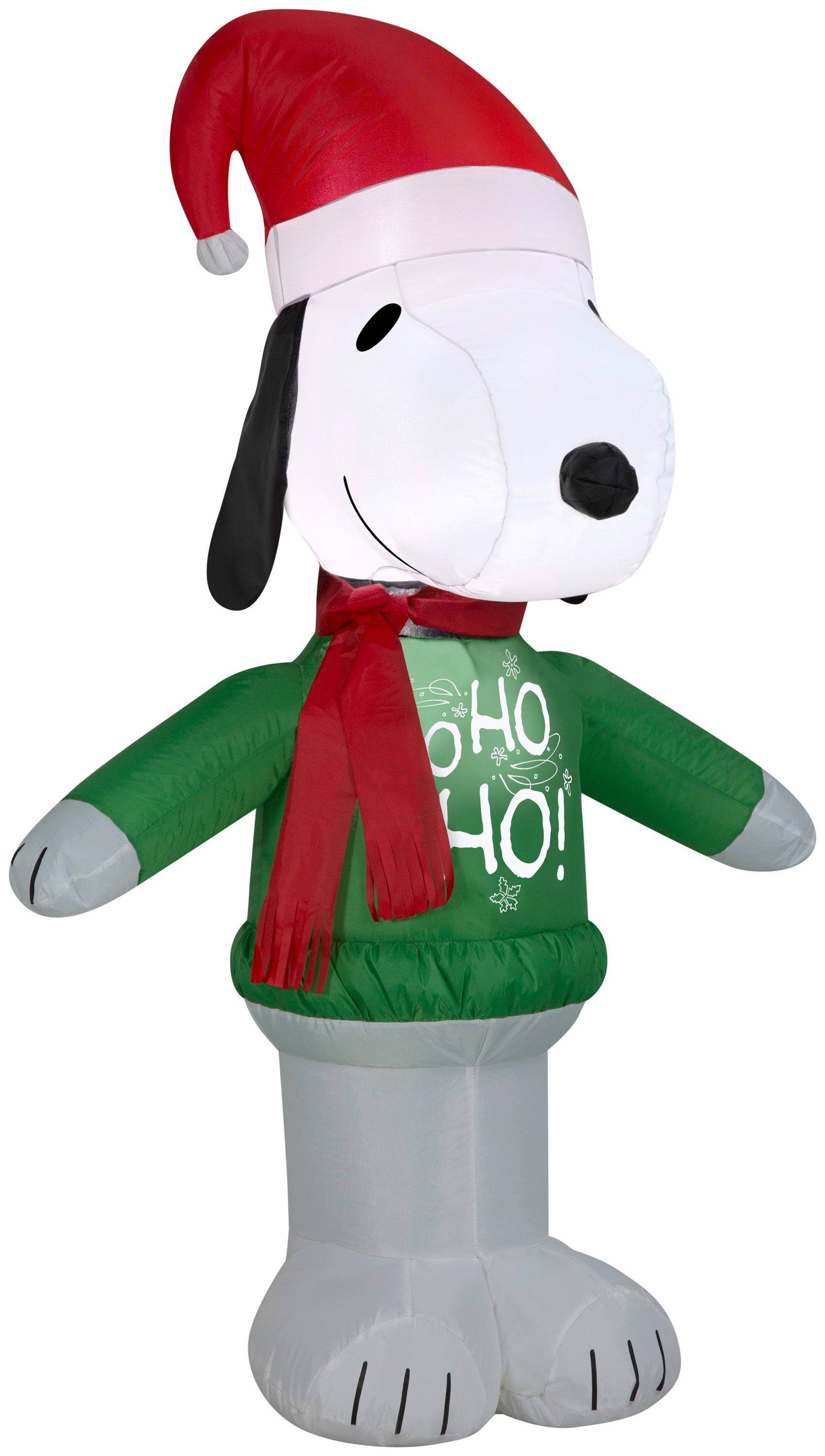 Airblown Snoopy w/ Ho Ho Ho Sweater Peanuts Christmas Inflatable