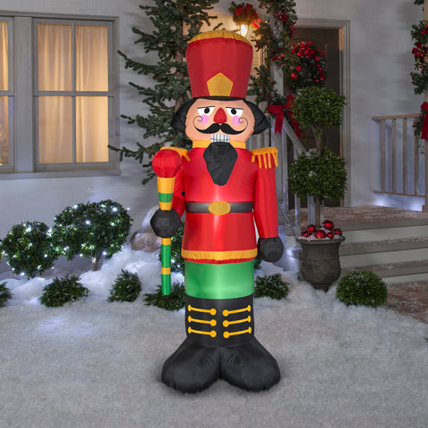 6.5' Airblown Red Nutcracker Christmas Inflatable