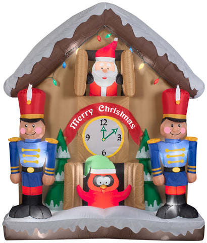 6.5' Animated Airblown Santa Clock Christmas Inflatable
