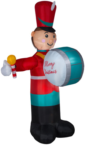 8' Animated Airblown Drumming Soldier Christmas Inflatable