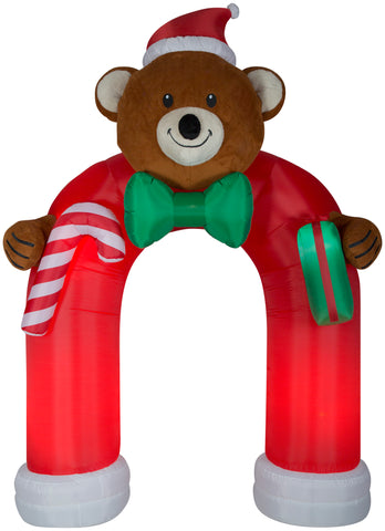 10.5' Archway Animated Airblown Wiggling Bear and Bow Tie Christmas Inflatable