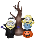 Load image into Gallery viewer, Gemmy 5.5' Airblown Minions w/Tree and Pumpkin Scene Universal