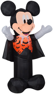 3.5' Airblown Mickey as Vampire w/Orange Bat Vest Disney Halloween Inflatable