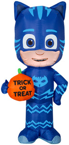 3.5' Airblown Catboy w/ Trick or Treat Pumpkin Halloween Inflatable