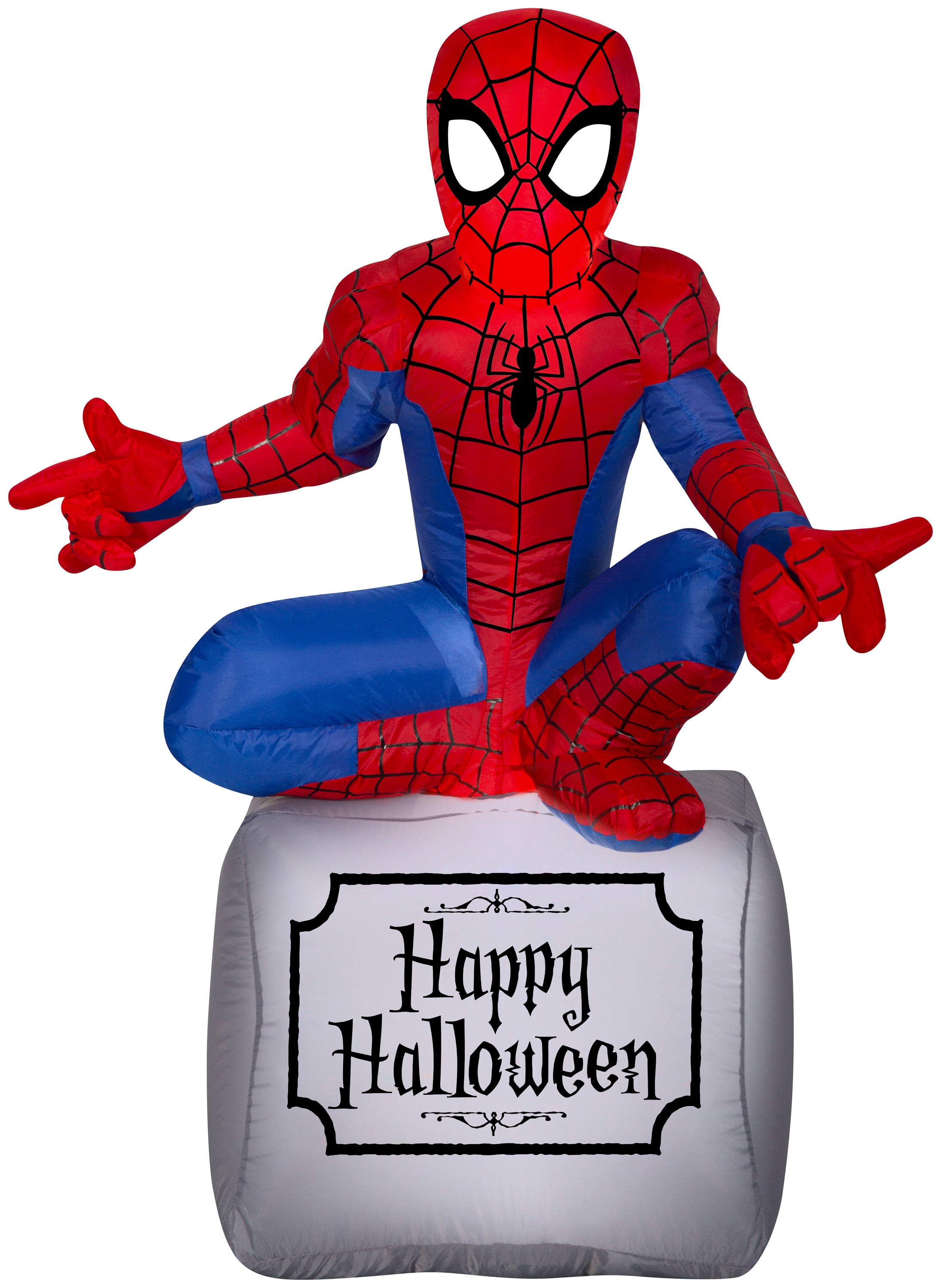 3.5' Airblown Spider Man on Tombstone Marvel Halloween Inflatable