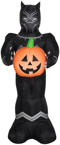 3.5' Airblown Black Panther w/ Pumpkin Halloween Inflatable