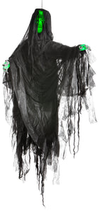 Gemmy Hanging Illusion Face Black Ghoul (Green)