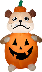 4' Airblown Pumpkin Dog Halloween Inflatable