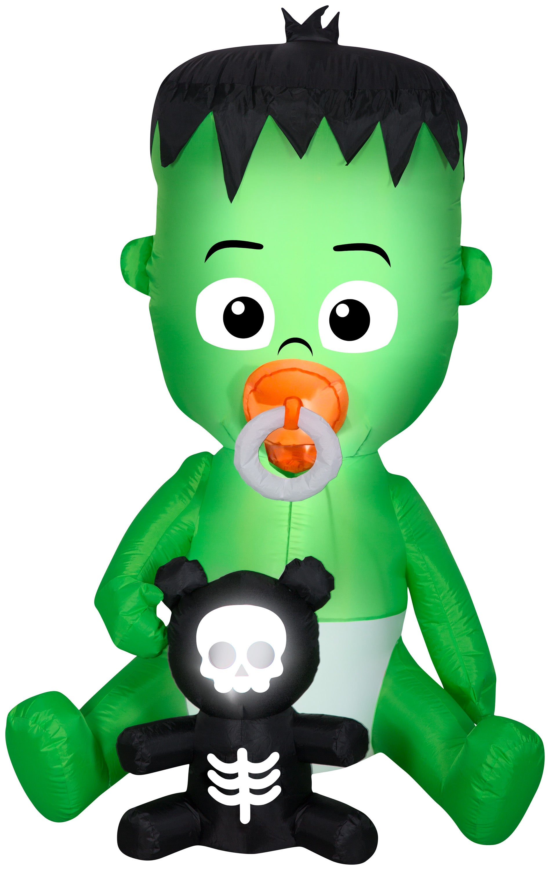 Gemmy Animated Airblown Nom Nom Baby w/Pacifier, 5.5 ft Tall, green