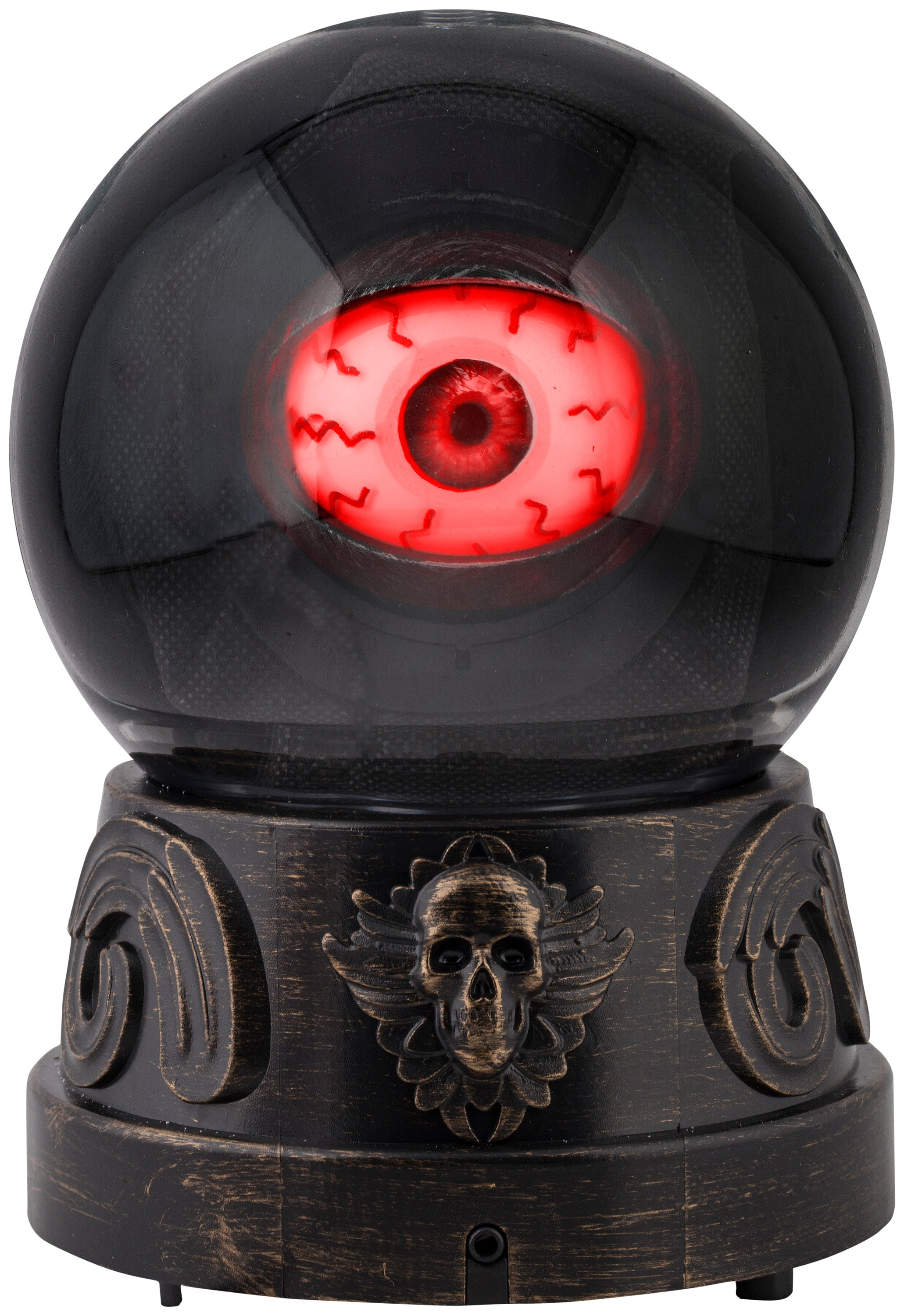 Animated Eyeball in Crystal Ball Halloween Prop