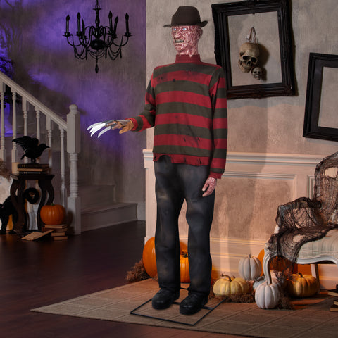 6' Life Size Animated Freddy Krueger Halloween Prop