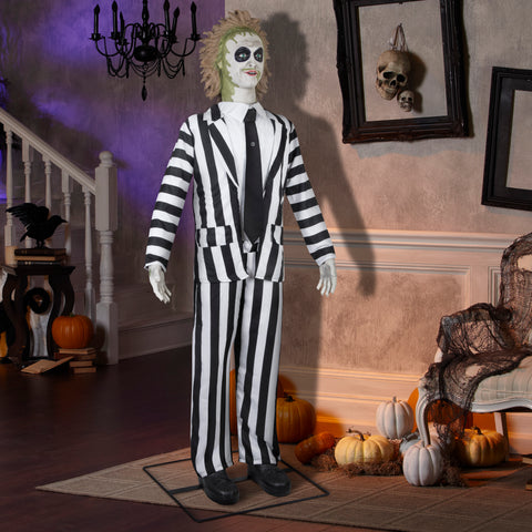 6' Tall Life Size Animated Beetlejuice Halloween Prop