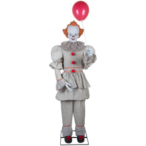 6' Tall Life size Animated Pennywise Halloween Prop