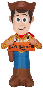 Load image into Gallery viewer, 3.5' Airblown Woody w/Banner Disney Halloween Inflatable