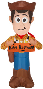 3.5' Airblown Woody w/Banner Disney Halloween Inflatable