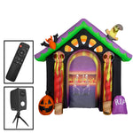 Load image into Gallery viewer, 8.5' Living Projection Airblown-Archway Screen-Candy House w/Removable Screen Halloween Inflatable